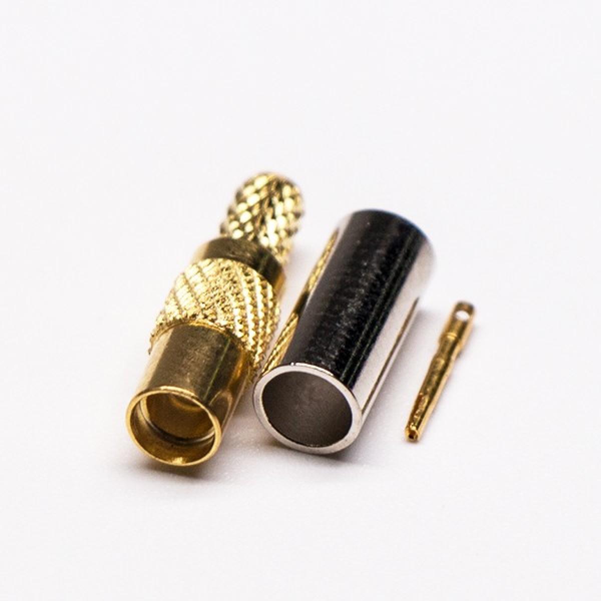 MMCX同轴连接器直式公头压接式接同轴线缆