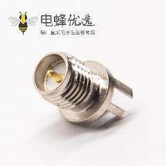 卡板式SMA接头接PCB板母头公针直式镀镍
