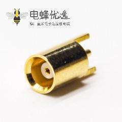 mcx插座母头连接器180度插板接PCB板
