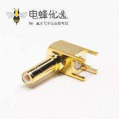 smb弯母头连接器镀金插板接PCB板