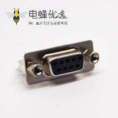 d sub 9针直式母头连接器铆锁式插孔接PCB板