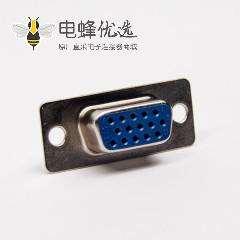 d sub连接器15针直式180度母头蓝色胶芯焊接式接线