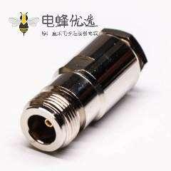专业射频同轴连接器N型直式母头母针螺母锁紧