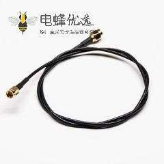 SMA射频线180度公头转SMA公头组装线材黑色