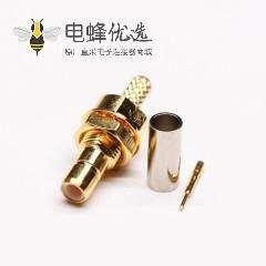 射频接口SMB直式母头穿墙压接式接线