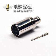 PAL接口直式公针线端焊接镀镍连接器