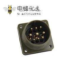 航空插头9芯MS3102A24-11P 9针伺服电机插座