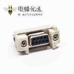 d-sub 9针插座180度母头直式插板接PCB板