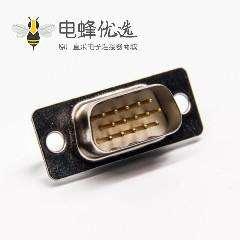 D sub车针连接器直式公头9针焊接式接线