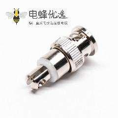 BNC接口公头插头直式锁线同轴连接器