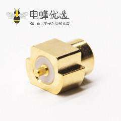 mcx同轴连接器直式180度母头沉板式接PCB板镀金