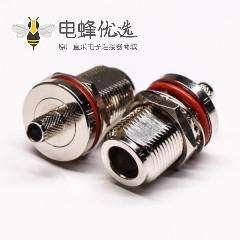防水接头连接器N型直式母头穿墙防水压接