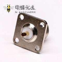 带法兰连接器母端N头直式四孔法兰焊接式