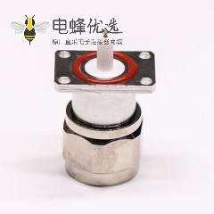 n型射频同轴法兰连接器公头带防水圈