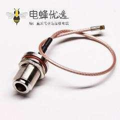 电缆N线母头直式穿墙式防水转MMCX公头直式组装线材