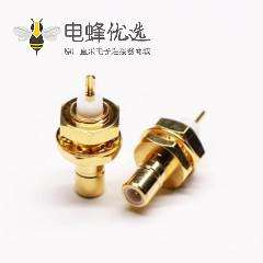 SMB同轴连接器母头直式焊接接线