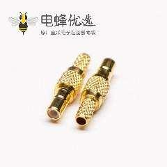 SSMB直头连接器母头RF同轴连接器压接线缆
