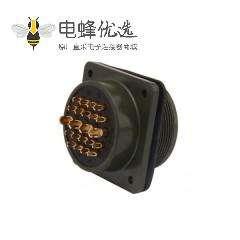 工业连接器MS3102A28-11P方形插座航空插头22芯公母接头