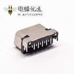 15针d-sub连接器母头90度插板接PCB板