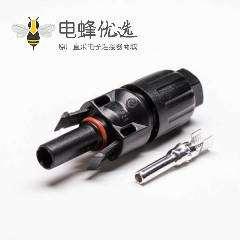 光伏连接器MC4一套公母防水面板安装接线