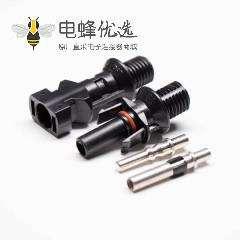 MC4光缆连接器一套公母太阳能光伏连接器防水