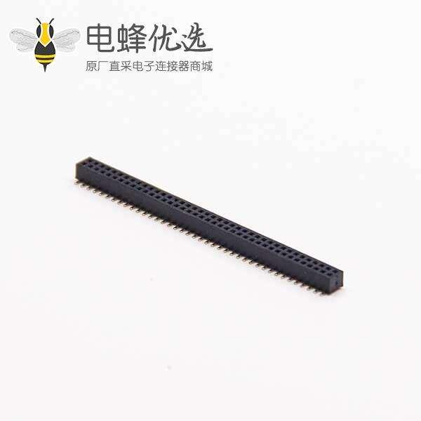 1.0mm排母直式双排1.0 PH 2×40 PIN贴板