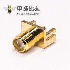 射频同轴连接器sma边缘卡板式母头直式接PCB板