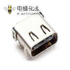 立式SMT贴片type c 180度贴片PS4游戏机USB连接器