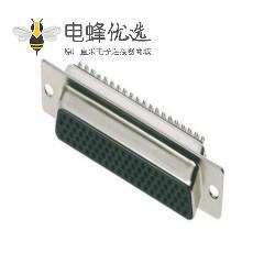 D-sub78 pin母头焊线 冲针插座钢体焊接类型