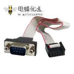 D-SUB 9 pin转10 Pin 端子带排线