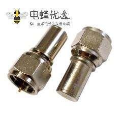 F连接器公头射频连接器铜材质75欧姆