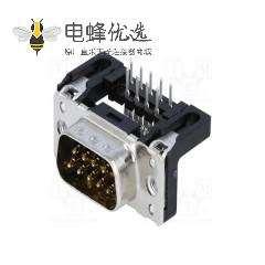 插座D-Sub 9 PIN冲针弯插板