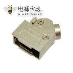 D-SUB 9 pin金属外壳弯头触控焊线