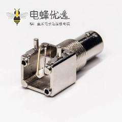 bnc穿墙座子弯式母头连接器插板接PCB板