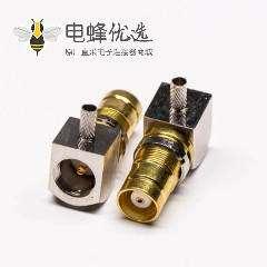 din 1.6/5.6连接器母头弯式压接式接同轴线缆