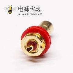 RCA音频连接器母头插座直式180度焊接接线