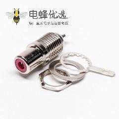 RCA接头母头插座直式连接器焊接接线