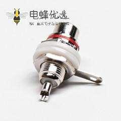 RCA插座母头直式同轴连接器焊接接线