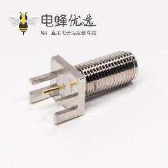 射频连接器sma反极母头公针直式卡板式接PCB板