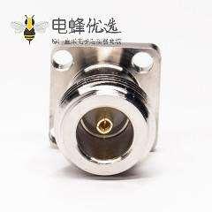 n型法兰连接器4孔直式插头母头插PCB板