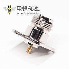 法兰n型射频接头rf系列直式母头焊接式接线
