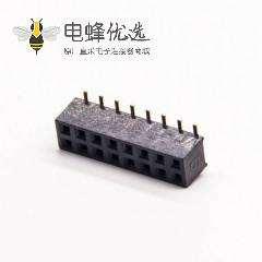排母连接器直式贴板式母头16pin双排SMT