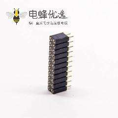 22pin圆孔排母双排22pin间距2.54mm直式插板