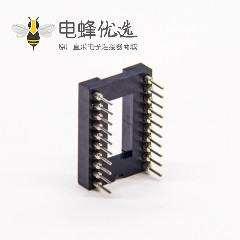双排圆孔母座直插式20pin内金外锡间距1.778mm