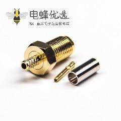 压接式sma接头直式180度母头压接式接RG316线