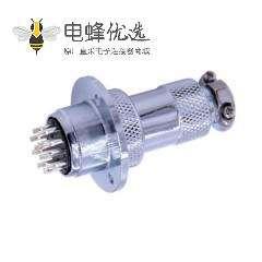 GX20法兰连接器12芯直式公母IP55防水工业连接器