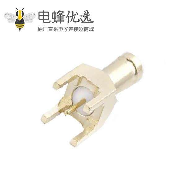 1.0 / 2.3连接器PCB安装直75Ω插座焊接端接标准6GHz镀金