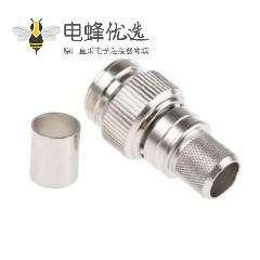 TNC插头压接直径50Ω电缆安装公端子用于LMR400