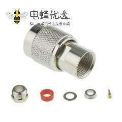 TNC插头直式通50Ω电缆公头焊接端子适用于RG58 / U