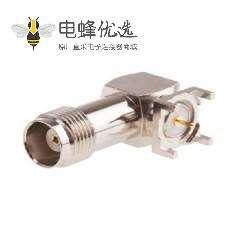 TNC连接器焊接直角母头50ΩPCB安装端子